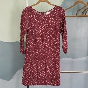Old Navy Exposed Zipper Floral Sheath Dress